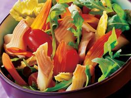 Recette Salade de Truite fumée aux fleurs