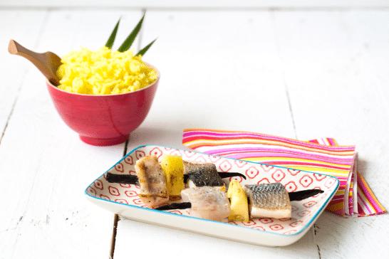 Atelier Enfant - Brochette de bar, ananas et riz