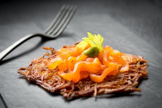 Atelier Créatif - Darphin de pommes de terre, truite fumée et crème de céleri
