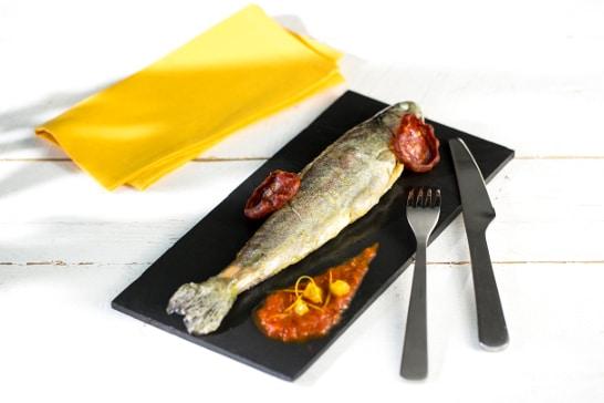 Recette poisson - Truite Andalousie