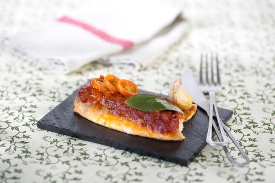 Recette poisson - Truite au concassé de tomates