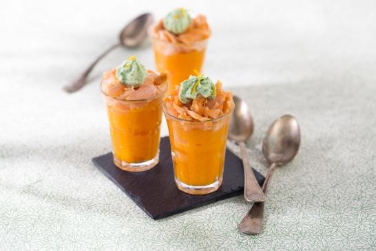Recette saumon - Verrines vitamine au saumon