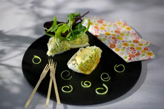 Fondant de maigre au fromage frais et ciboulette