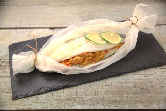 Papilottes de bar, farofa aux épices - Saveurs d'Amérique du Sud  | Atelier Poisson