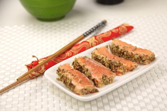 Pavé de truite mi-cuit aux épices et graines de sésame - Saveurs d'Asie | Atelier Poisson